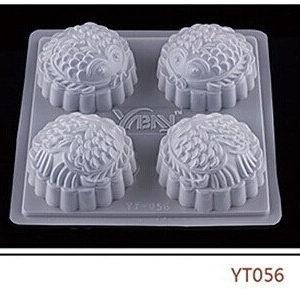 Khuôn thạch nhựa 4 ô tròn ép vảy rồng