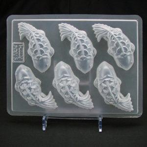 Khuôn thạch nhựa 6 ô con cá