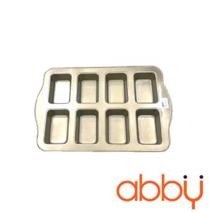 Khay nướng bánh mì mini 8 ô 36x24x3.3cm màu vàng (Pro)