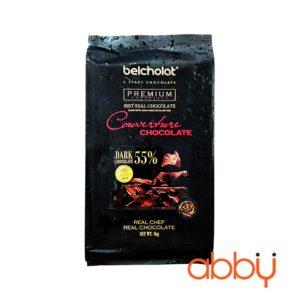 Socola đen nguyên chất 55% Couverture Belcholat 1kg