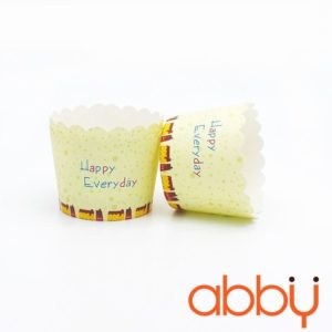 Cup giấy cứng 6x5cm mẫu Happy Everyday (48 - 50 chiếc)