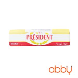Bơ nhạt President thỏi 100g