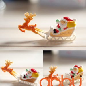 Tượng trang trí bánh ông già Noel cưỡi xe tuần lộc