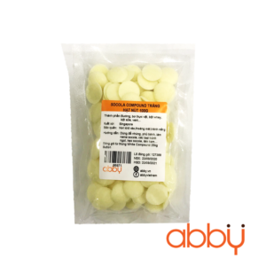 Socola compound trắng hạt nút 100g
