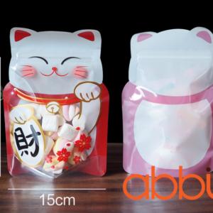 Túi zip mèo thần tài 16.5x15cm (10 chiếc)