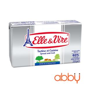 Bơ nhạt 60% béo Elle&Vire thỏi 200g