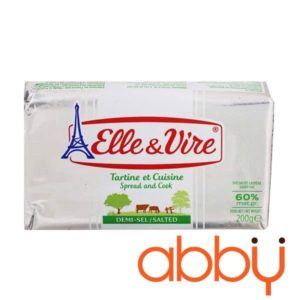 Bơ mặn 60% béo Elle&Vire thỏi 200g