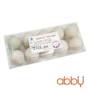 Trứng vịt sạch Hoa Loan (khay 10 quả)