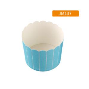 Cup giấy cứng 6x5cm màu xanh sọc trắng (48 - 50 chiếc)