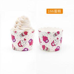 Cup giấy cứng 6x5cm mẫu cupcake (48 - 50 chiếc)