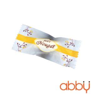 Túi đựng kẹo Nougat sọc cam 10x4cm (khoảng 100 chiếc)