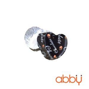 Cup thiếc hình tim chocolate 3.5x3x1.4cm (10 chiếc)
