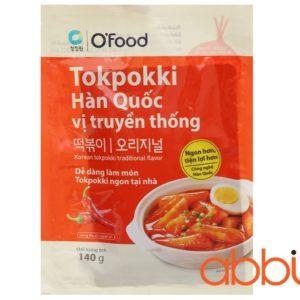 Bánh gạo Tteokbokki Hàn Quốc vị truyền thống Ofood 140g