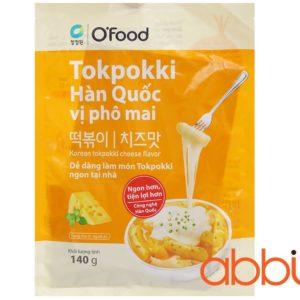 Bánh gạo Tteokbokki Hàn Quốc vị phô mai Ofood 140g