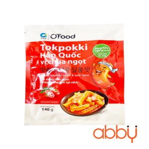 Bánh gạo Tteokbokki Hàn Quốc vị chua ngọt Ofood 140g