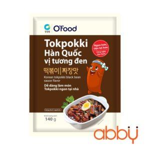 Bánh gạo Tteokbokki Hàn Quốc vị tương đen Ofood 140g