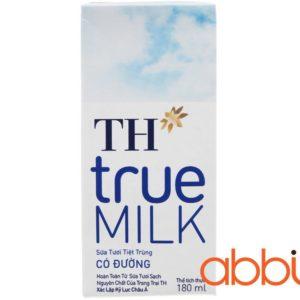 Sữa tươi TH True Milk có đường 180ml