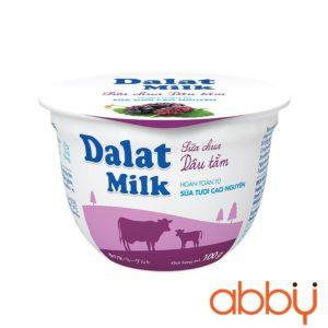 Sữa chua vị dâu tằm Dalatmilk 100g