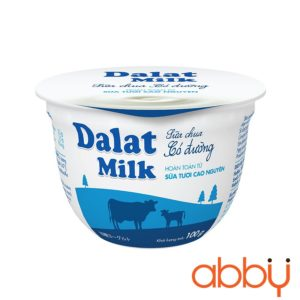 Sữa chua nguyên vị có đường Dalatmilk 100g