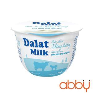 Sữa chua không đường Dalatmilk 100g