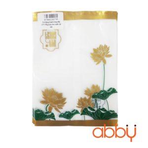 Túi đựng bánh trung thu 125-150g mẫu Sen xanh (10 túi)