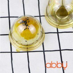 Hộp pet tròn đế vàng đựng bánh Trung Thu XY68S (10 chiếc)