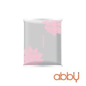 Túi đựng bánh trung thu 125-150g mẫu Sen hồng (10 túi)