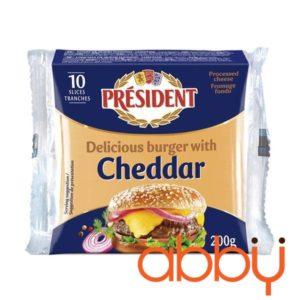 Phô mai Cheddar lát President 200g