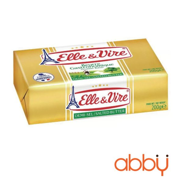 Bơ nhạt Elle&Vire 82% béo thỏi 200g